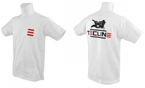 Tecline T-shirt Tecline, Fruit Of The Loom, white M
