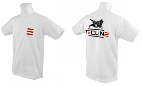 Tecline T-shirt Tecline, Fruit Of The Loom, white XXL