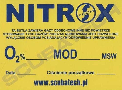 Tecline Informatie Sticker Nitrox 20x15cm (Pools)