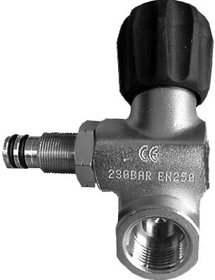 Valve 2nd Outlet Left 230Bar  Viton G5/8