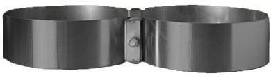 Stalen Flesband Voor Dubbelsets Carbon  2X176Mm/30Mm