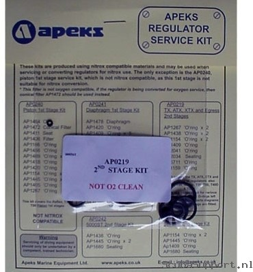 Apeks 2Nd Stage Service Kit AP0219