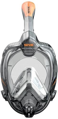 Seac Full Face Snorkeling Mask Libera L/Xl S/Kl Black/Orange
