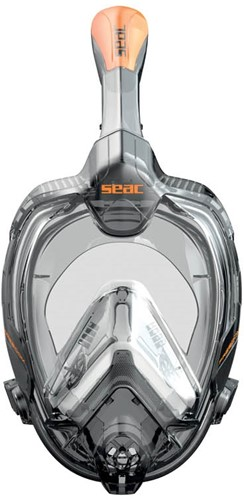 Seac Full Face Snorkeling Mask Libera Xs/S S/Kl Black/Orange