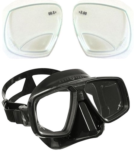 Aqualung Look duikbril op sterkte met lees glazen