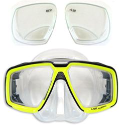 Aqualung Look HD duikbril op sterkte met lees glazen