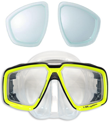 Aqualung Look HD duikbril op sterkte met min glazen