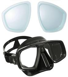 Aqualung Look masker met min glazen op sterkte