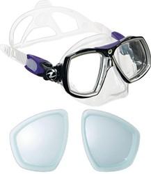 Aqualung Look 2 Midi duikbril op sterkte kind met min glazen