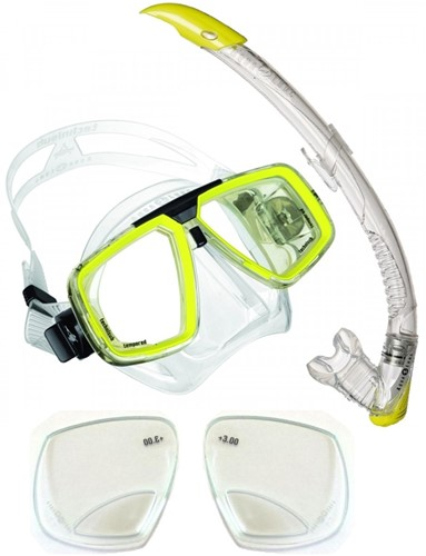 Aqualung Look + Zephyr snorkelling set with Reading Lenses