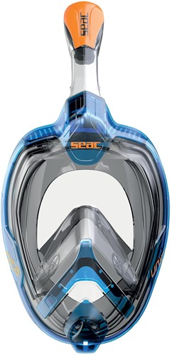 Seac Full Face Snorkeling Mask Magica L/Xl Slt/Fu Blue/Orange