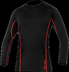 Ultrawarmth Base Layer Top Black/Lava Men