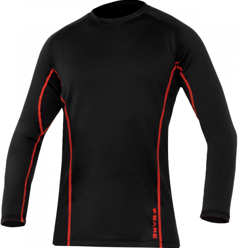 Ultrawarmth Base Layer Top Black/Lava Men L