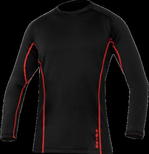 Ultrawarmth Base Layer Top Black/Lava Men XXL