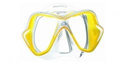 Mares X-Vision Liquidskin Geel duikbril