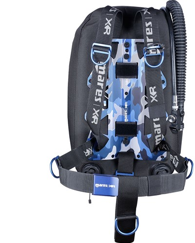 Mares Blue Battle Single Backmount Set-Xr Line