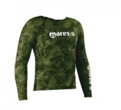 Mares Top Rashguard Camo Green