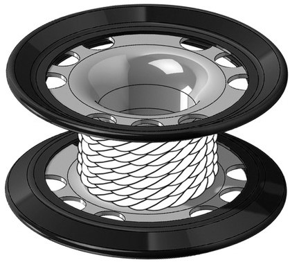 Mares Cave/Finger Ss316 Coated Spool - Xr Line