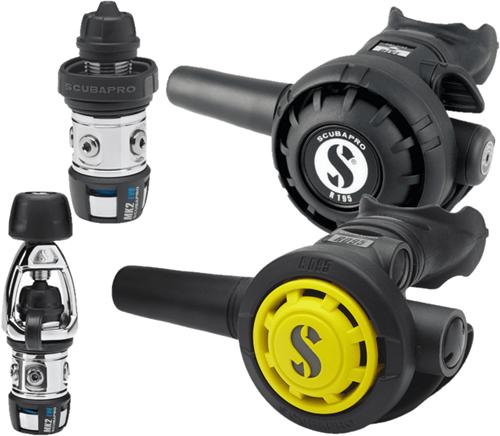 Scubapro MK2+ Evo  / R195 / R095 Octopus Automatenset