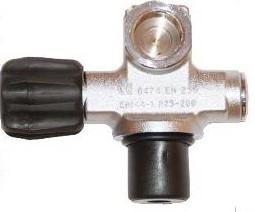 Kraan Enkel Met Extra Poort 300Bar W28.8 Viton G5/8