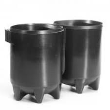 Tankvoet Dubbel 10 Liter  2X 170Mm Black