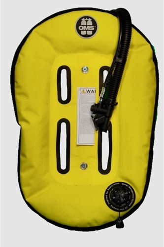 OMS Stainless Steel Comfort Harness III Signature System with Speed Yellow / Black Performance Mono Wing 27 lb (~12.5 kg)
