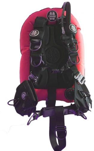 OMS AL, Red / schwarz, Comfort Harness III Signature PF Mono 32 lb