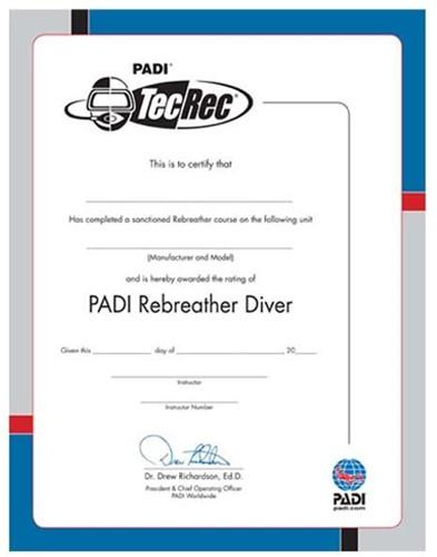 PADI Certificate - PADI Rebreather Diver (Russian)