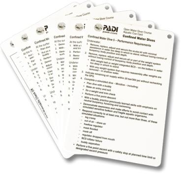 PADI Cue Cards - Confined Water, Aquatic (Italian)