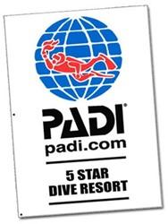 PADI Flag - 5 Star Dive Resort, 1m x 1.5m