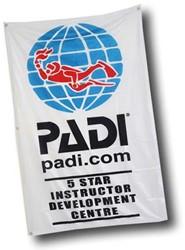 PADI Flag - 5 Star IDC Dive Centre, 1m x 1.5m