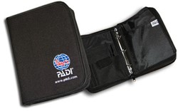 PADI Binder - Adventure Log, Nylon Fabric, Black