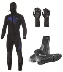 Bare 7mm Sport Hooded wetsuit set
