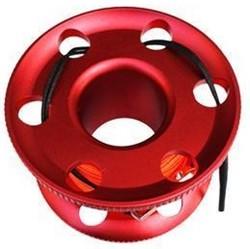 Vingerreel alu 30 meter rood