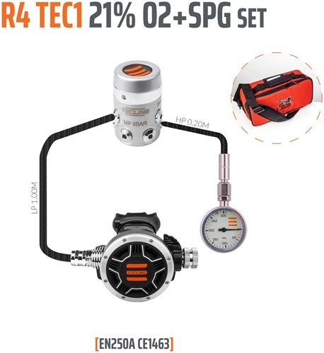 Tecline R4 / Tec1 Din Stage Automatenset Met Manometer