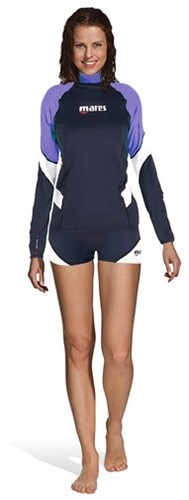 Mares Rash Guard Loose Fit L/S She Dives Lil Xxs