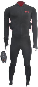 Thermalution Red grade PLUS  rechargable Thermal body suit,Wireless 100M L