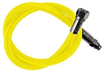 Regulator hose flex 3/8 yellow
