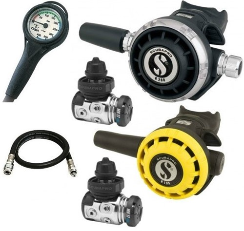 Scubapro MK17 G260 regulator set with extra Core 1st stage