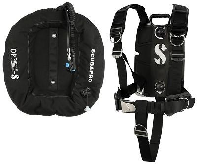 Scubapro S-Tek Pro Harness Ss + S-Tek Donut 40 Wing