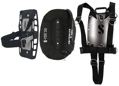 Scubapro S-Tek Pure Harness Ss + S-Tek Donut 30 Wing