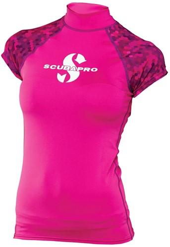 Scubapro Rashguard Flamingo Vrouw UPF50 Cut Sleeve