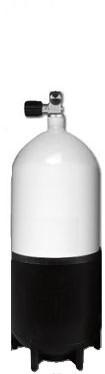 Stalen Duikfles 12 Liter Kort Enkel 232 Bar