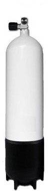 Stalen Duikfles 12 Liter Lang Enkel 232 Bar