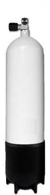 Stalen Duikfles 12 Liter Lang Enkel 232Bar
