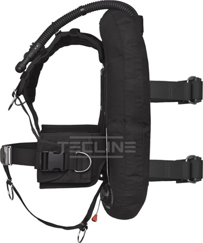 Tecline Donut 15 with DIR harness, built in mono adapter, weight pocket, tank belts & BP