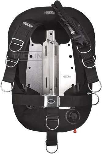Tecline Donut 17 with Comfort harness, built in mono adapter, weight pocket, tank belts & BP