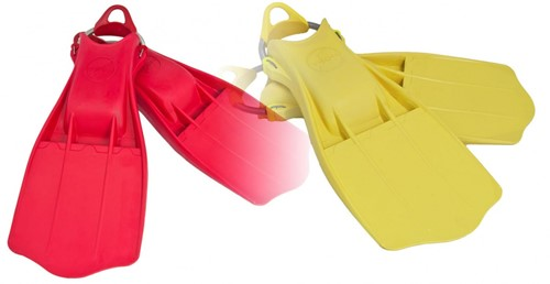 Tecline Rubber Fins Jetstream with SS spring straps XL - yellow