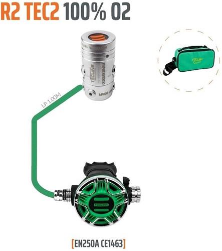 Tecline Regulator R2 TEC2 100% O2 M26x2,  stage set - EN250A