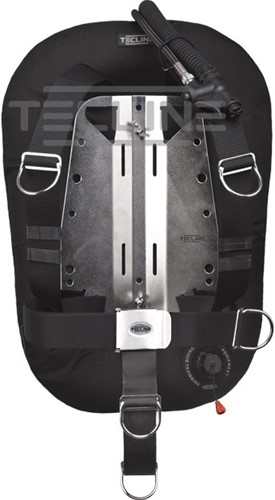 Tecline Donut 15 with adjustable DIR harness, built in mono adapter, tank belts & BP